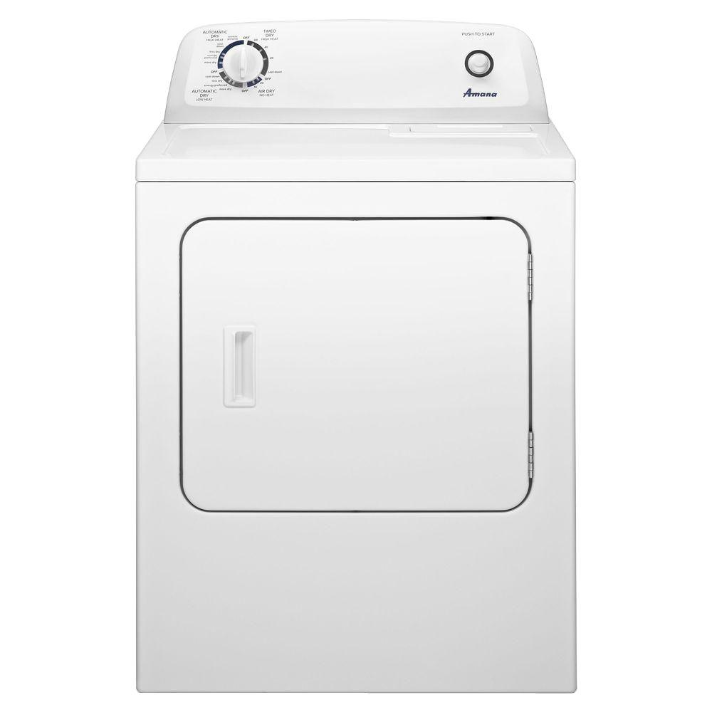 amana 6 5 cu ft 120 volt white gas vented dryer ngd4655ew the rh homedepot com amana appliances manuals online amana appliances manuals axp22t