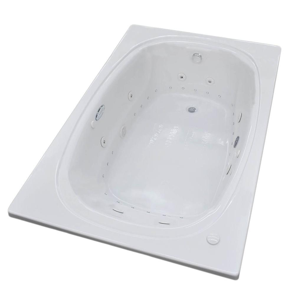 Universal Tubs Agate 6 ft. Whirlpool and Air Bath Tub in White ...