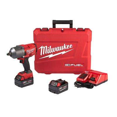 M18 FUEL 18-Volt Lithium-Ion Brushless Cordless 1/2 in. Gen II High Torque Impact Wrench with Friction Ring 5.0 Ah Kit