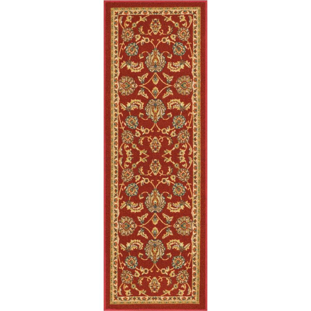 Kings Court Tabriz Red 3 ft. x 12 ft. Traditional Runner Rug