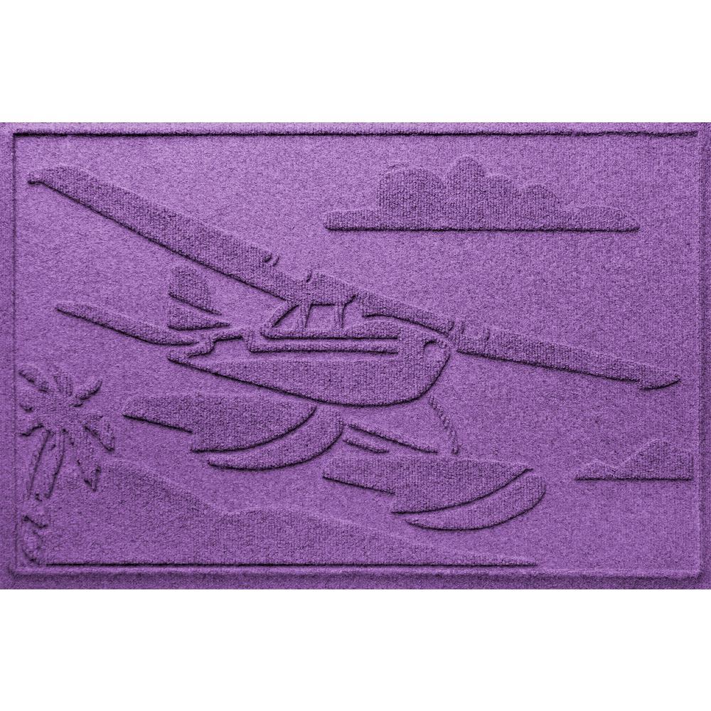 Purple 24 in. x 36 in. Sea Plane Polypropylene Door Mat