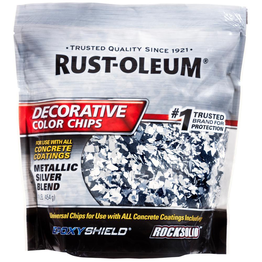 1 lb. Metallic Silver Decorative Color Chips