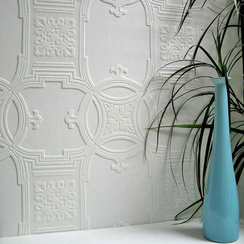 Anaglypta Early Victorian Paintable Textured Vinyl Wallpaper