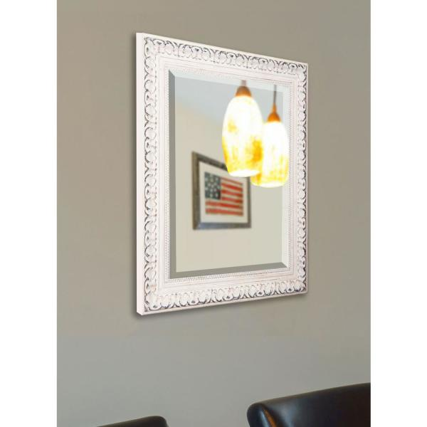 39.5 in. x 45.5 in. French Victorian White Rounded Beveled Floor