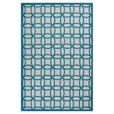 Play Time Teal 5 ft. x 7 ft. 6 in. Area Rug