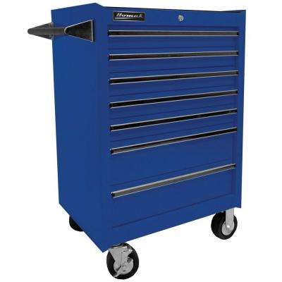 Professional 27 in. 7-Drawer Rolling Cabinet, Blue