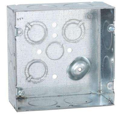 4-11/16 in. Square Welded Box, 2-1/8 in. Deep with 1 in. KO's (25-Pack)