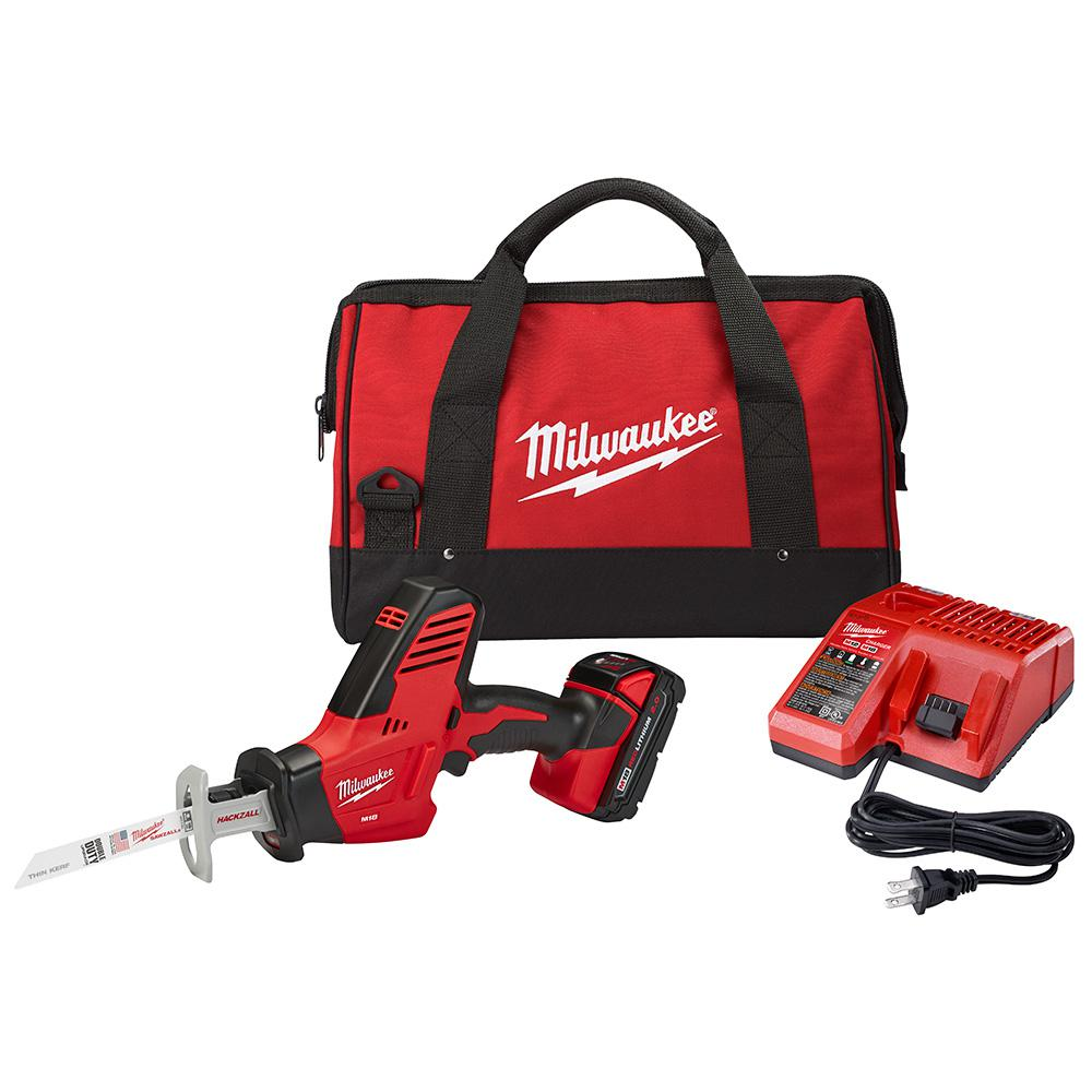 M18 18-Volt Lithium-Ion Cordless Hackzall Reciprocating Saw Kit w/(1) 1.5Ah