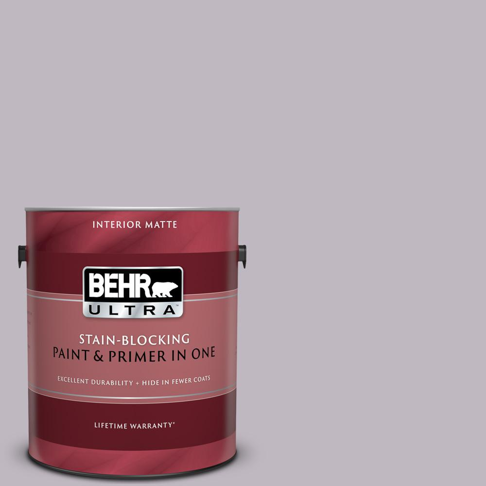 BEHR ULTRA 1 gal. #N570-2 Standing Ovation Matte Interior Paint and Primer in One