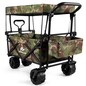 4.0 cu. ft. Steel Plastic Garden Wagon Cart in Camouflage
