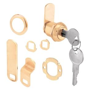 Prime-Line 5/8 inch Brass Drawer and Cabinet Keyed Cam Lock by Prime-Line