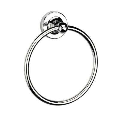 Wimborne Flexi-Fix Wall-Mounted Towel Ring in Chrome