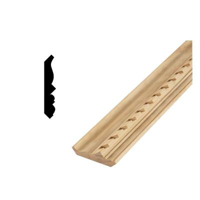 DM CM368D 9/16 in. x 3-5/8 in. Solid Pine Crown Moulding with dentil styling