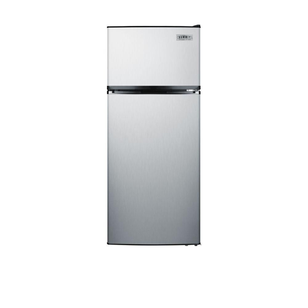 10.3 cu. ft. Top Freezer Refrigerator in Stainless Steel, Counter Depth