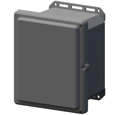 11.8 in. L x 10.2 in. W x 7.5 in. H Polycarbonate Gray Screw Top Cabinet Enclosure with Gray Bottom