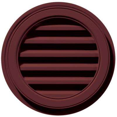 18 in. Round Gable Vent in Wineberry