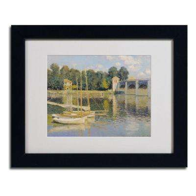11 in. x 14 in. Bridge at Argenteuil Matted Black Framed Wall Art