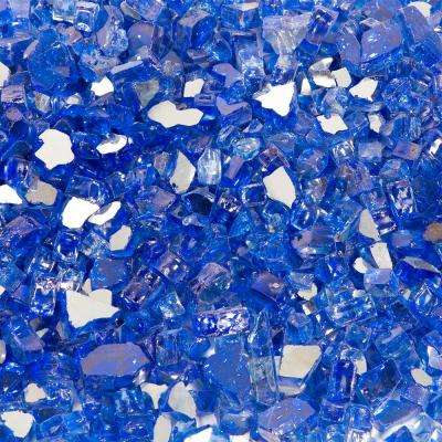1/4 in. 10 lbs. Cobalt Blue Reflective Tempered Fire Glass