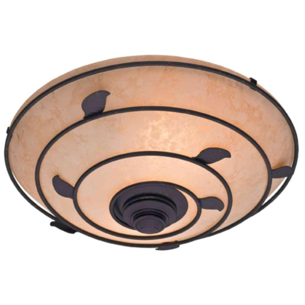 Hunter Organic Decorative 70 CFM Ceiling Exhaust Bath Fan with Brittany Bronze Leaf Design and Scavo Glass-DISCONTINUED