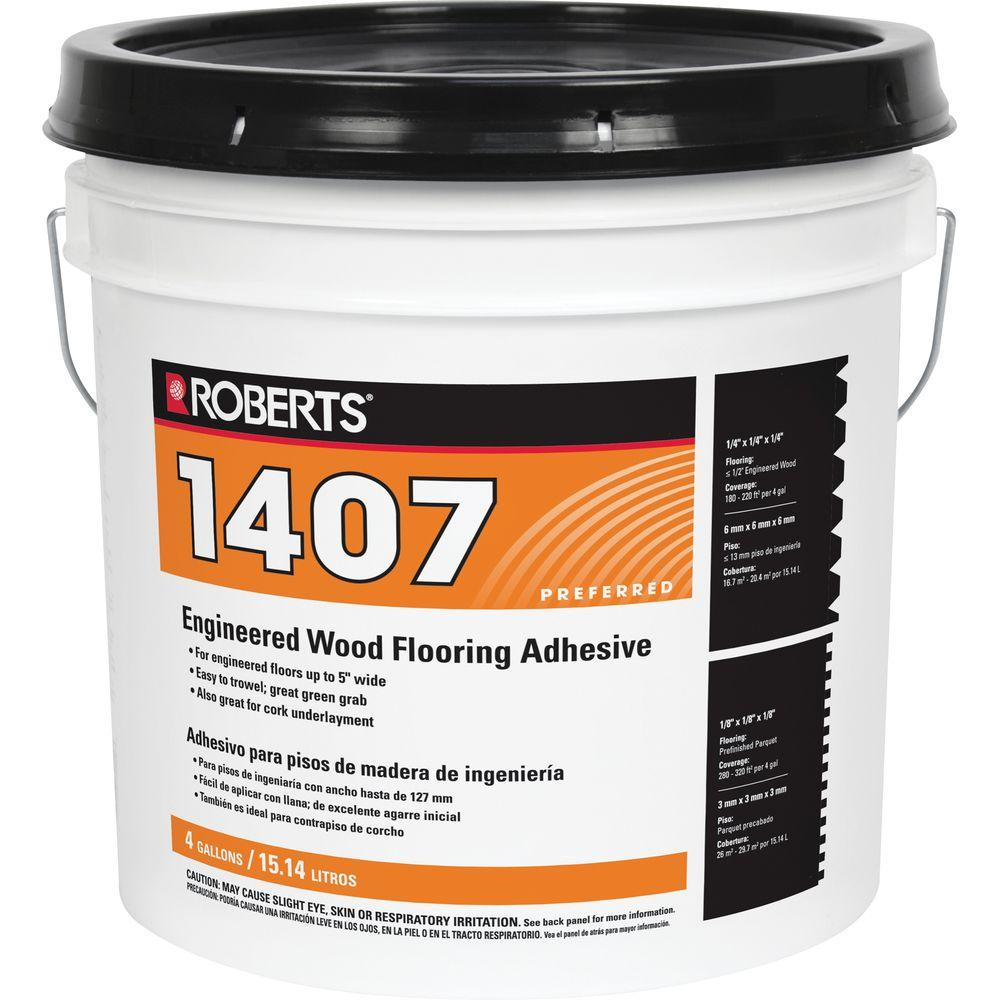 Roberts 4 Gal Engineered Wood Flooring Glue Adhesive 1407
