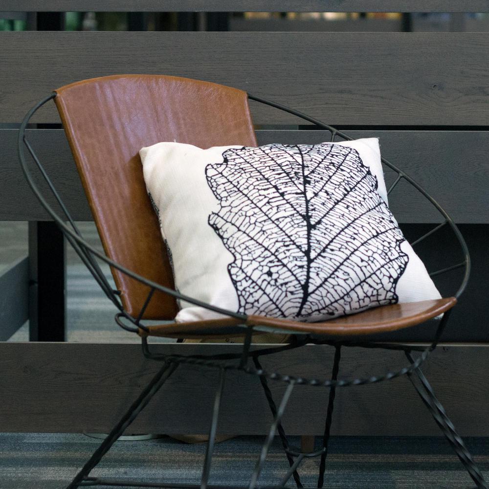 Skeleton Leaf Decorative Pillow