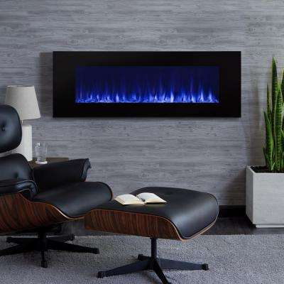 DiNatale 50 in. Wall-Mount Electric Fireplace in Black