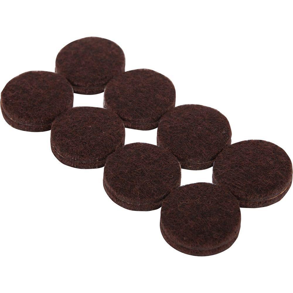 Good Heavy Duty Brown Self Adhesive Felt Pads (16 Per Pack