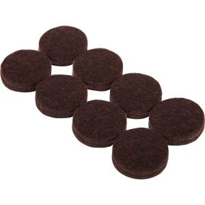 1 in. Heavy Duty Brown Self-Adhesive Felt Pads (16 Per Pack)