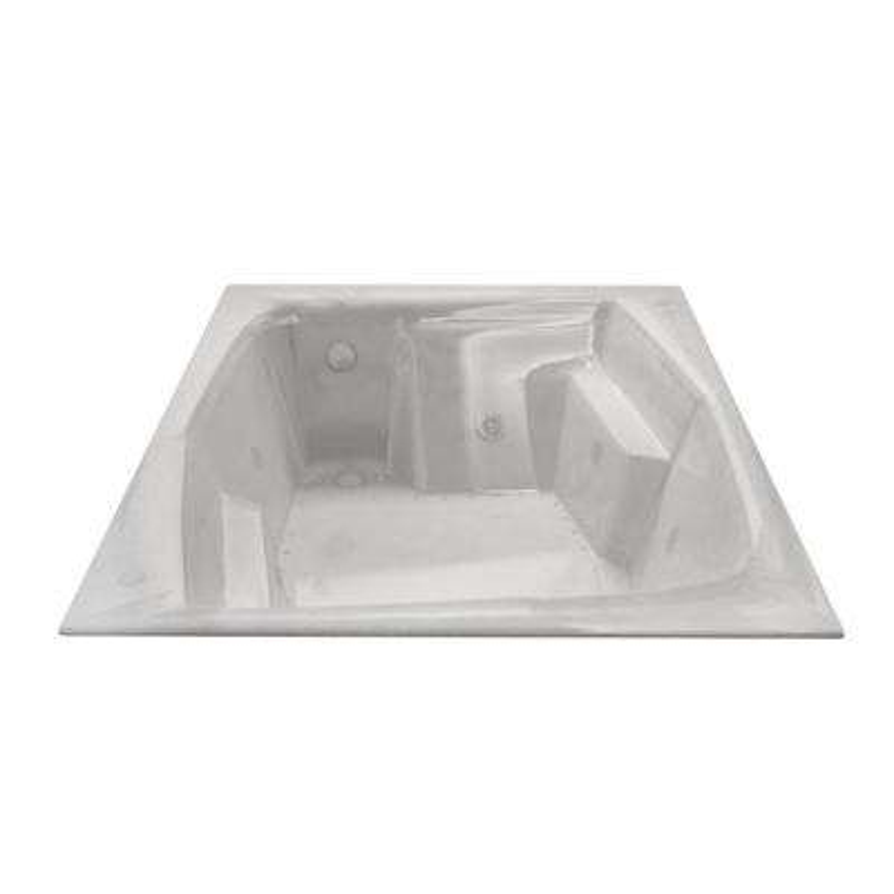 Amethyst Diamond Series 6 ft. Right Drain Rectangular Drop-in Whirlpool and Air Bath Tub in White
