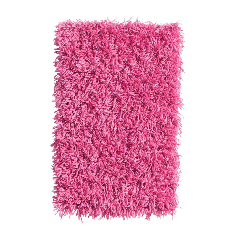 Home Decorators Collection Ultimate Shag Hot Pink 1 ft. 8 in. x 2 ft. 8 in. Accent Rug