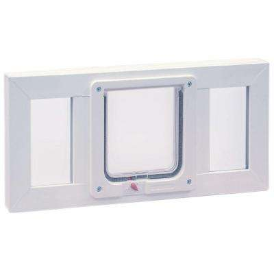 6.25 in. x 6.25 in. Small Cat Flap Pet Door with Vinyl Frame