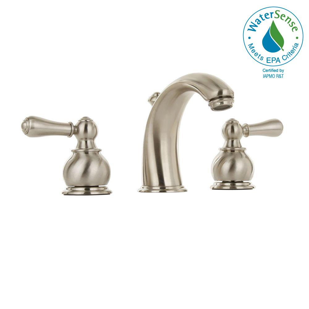 American Standard Hampton 8 In Widespread 2 Handle Mid Arc Bathroom Faucet