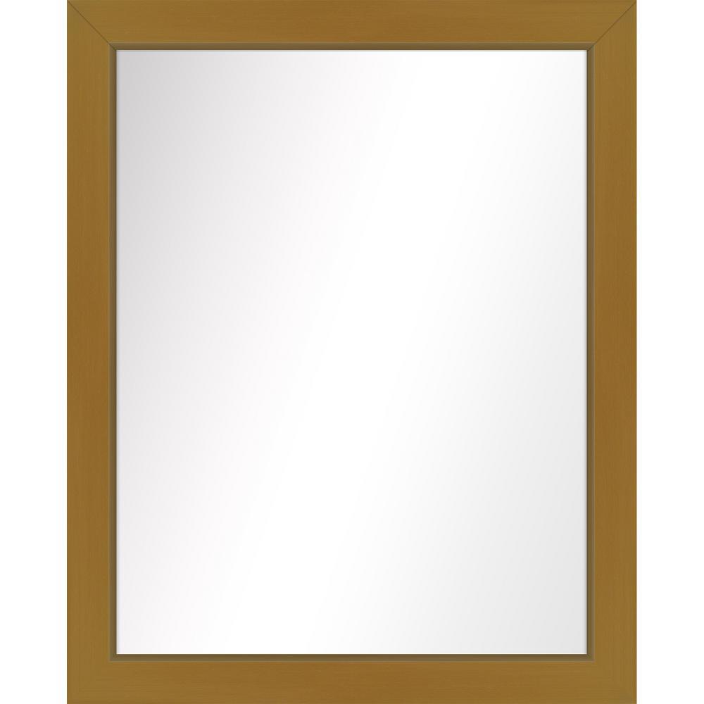 Medium Rectangle Antique Gold Art Deco Mirror (31.5 in. H x 25.5 in. W)