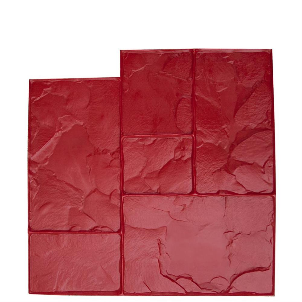 Bon Tool 24 In X 24 In Ashlar Red Floppy Concrete Stamp 12 875
