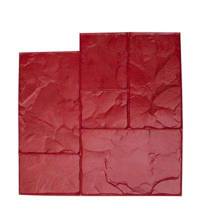 24 in. x 24 in. Ashlar Red Floppy Concrete Stamp