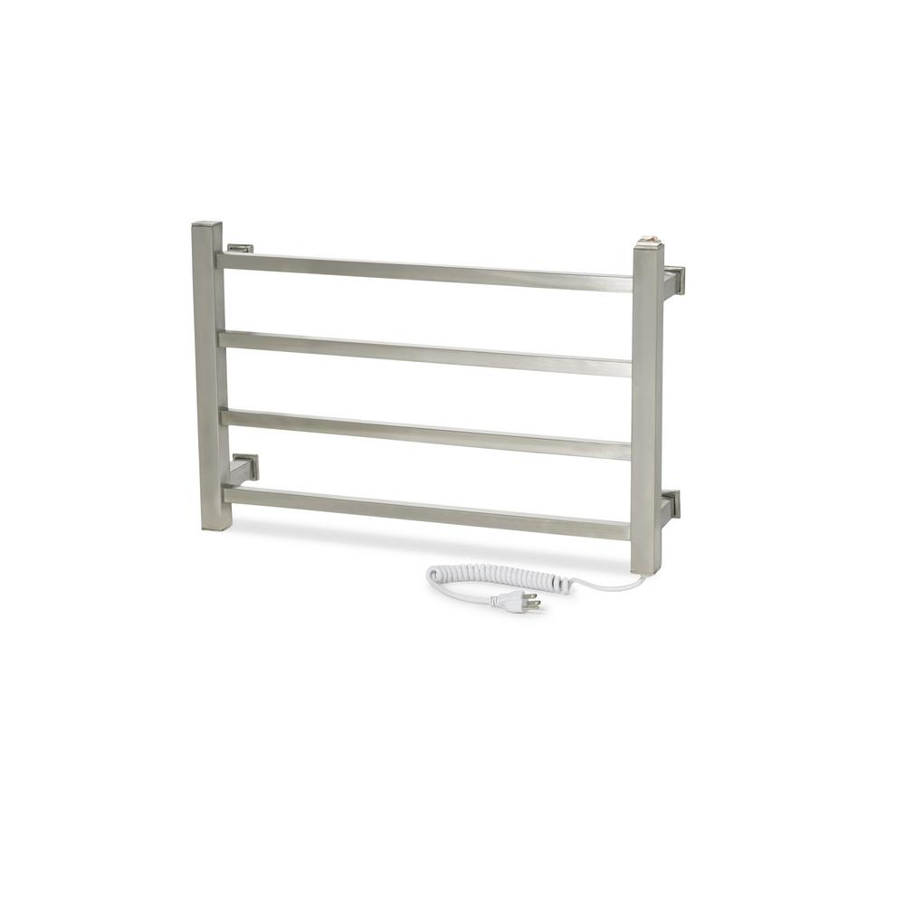 GEM Series 4-Bar Electric Towel Warmer in Matte Chrome