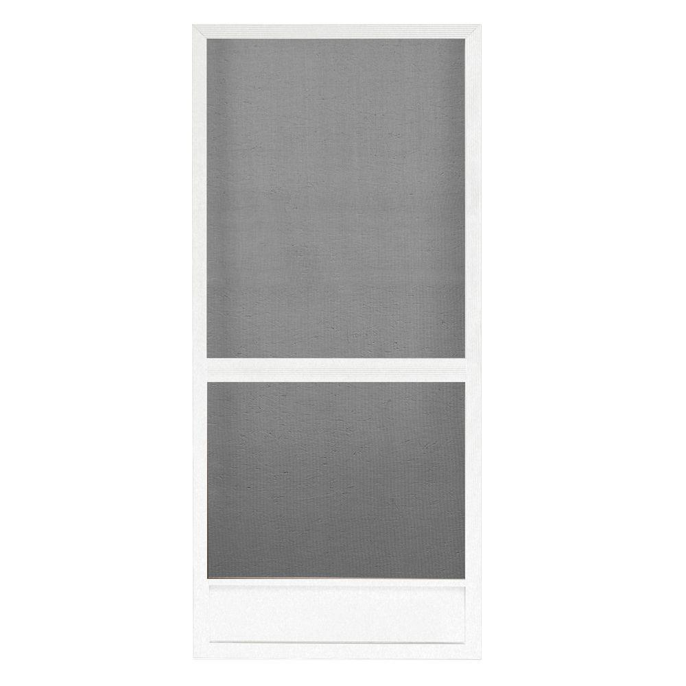 Screen Tight 36 in  x 80 in  White Floridian Metal Screen Door
