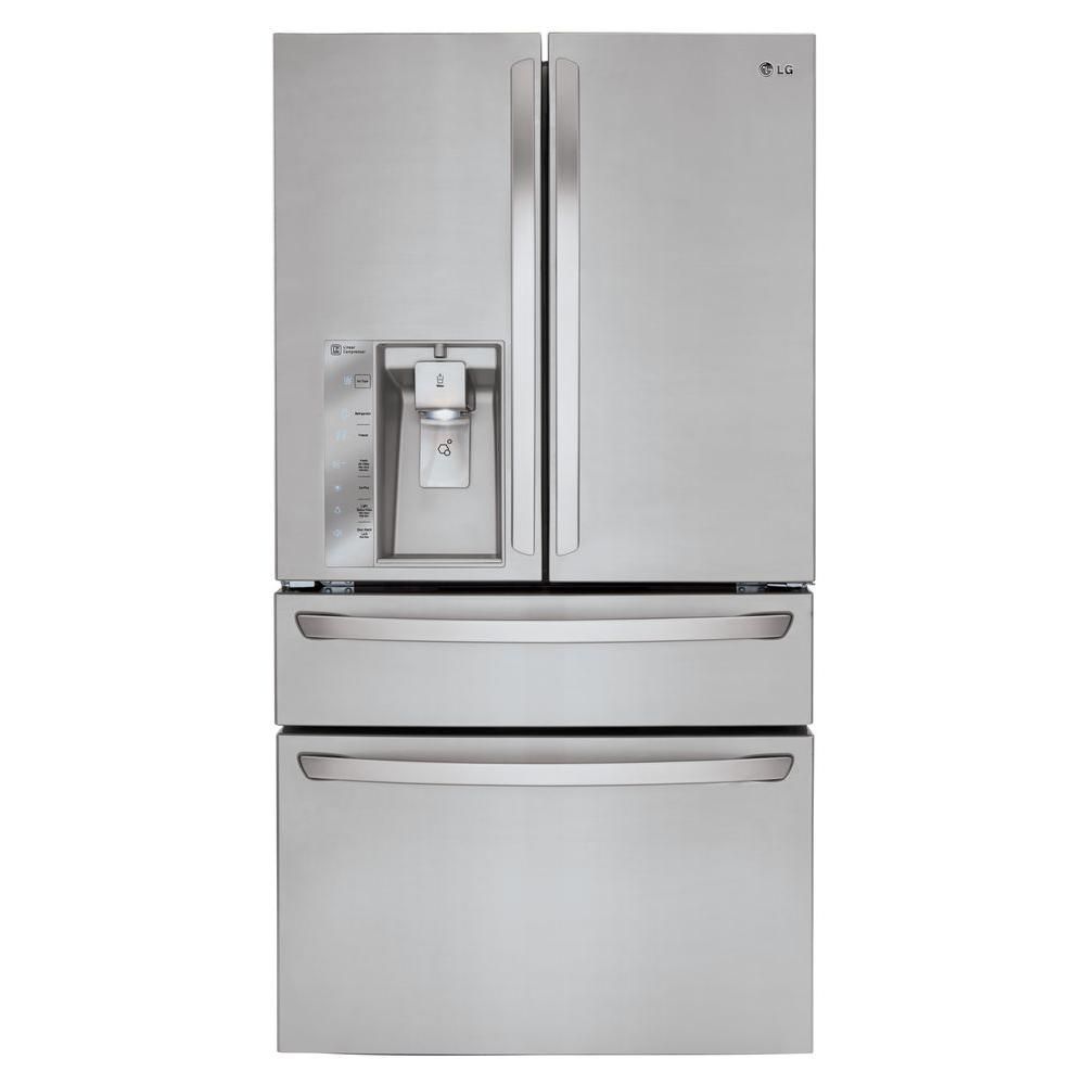 stainless steel lg electronics french door refrigerators lmxc23746s 64_1000 lg electronics 22 7 cu ft french door refrigerator in stainless  at crackthecode.co