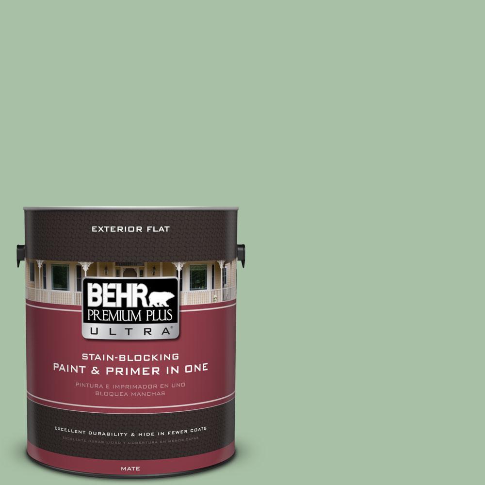 BEHR Premium Plus Ultra 1-gal. #S400-4 Azalea Leaf Flat Exterior Paint