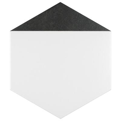 Peak Hex Nero Encaustic 8-5/8 in. x 9-7/8 in. Porcelain Floor and Wall Tile (11.56 sq. ft. / case)