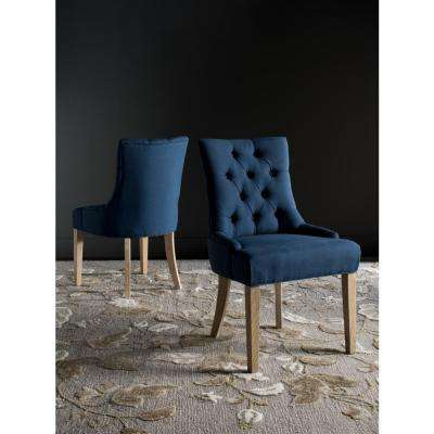Abby Steel Blue/White Wash Viscose-Poly Chair (2-Pack)