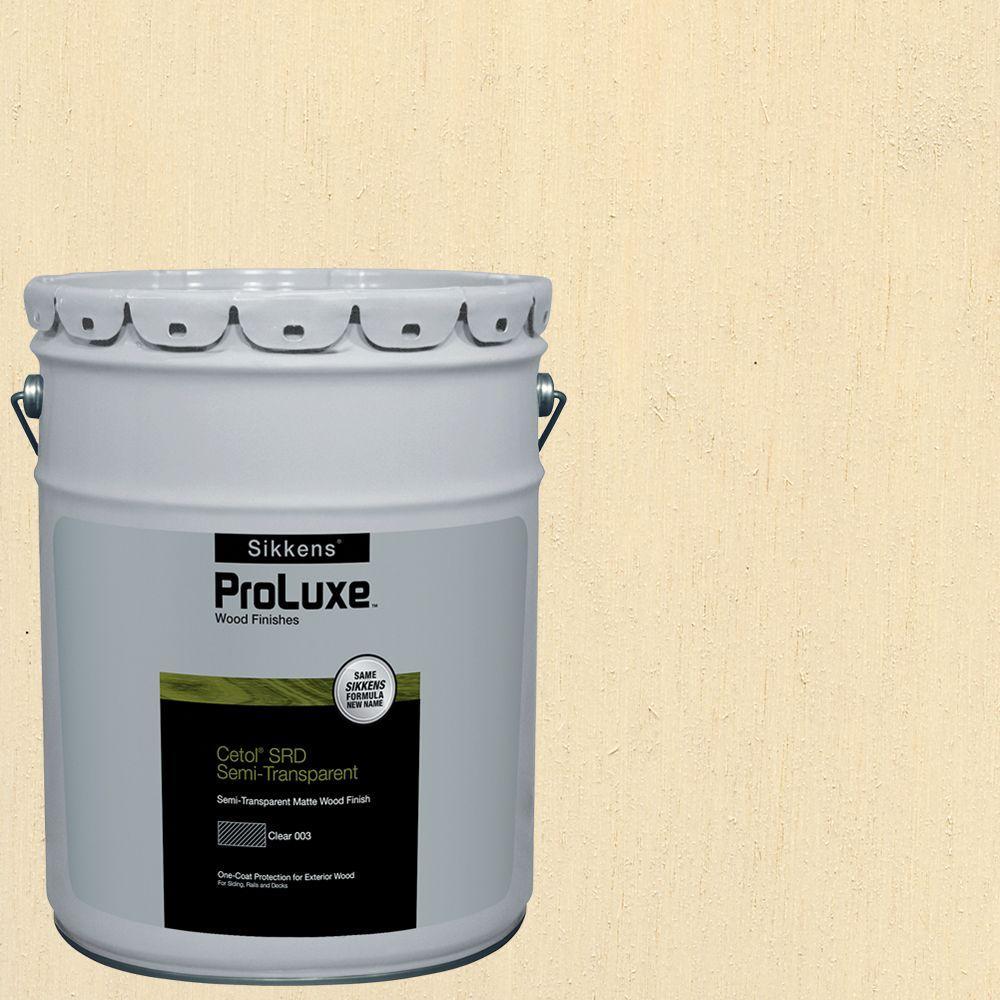 Sikkens ProLuxe 5-gal. #hdgsrd-ST-231 Navajo White Cetol SRD Semi-Transparent Exterior Wood Finish -  HDGSRD-ST500-231-05