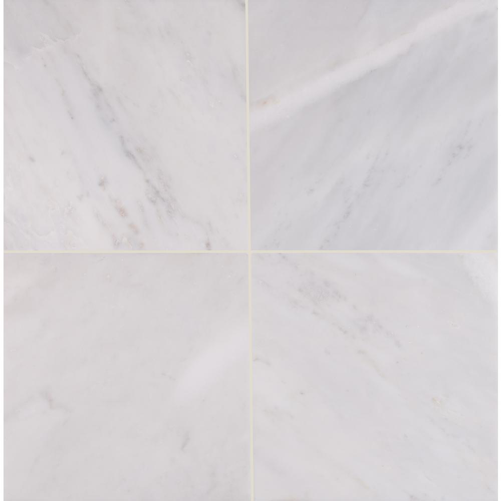 MSI Greecian White 12 in. x 12 in. Honed Marble Floor and Wall Tile (5 sq. ft. / case)