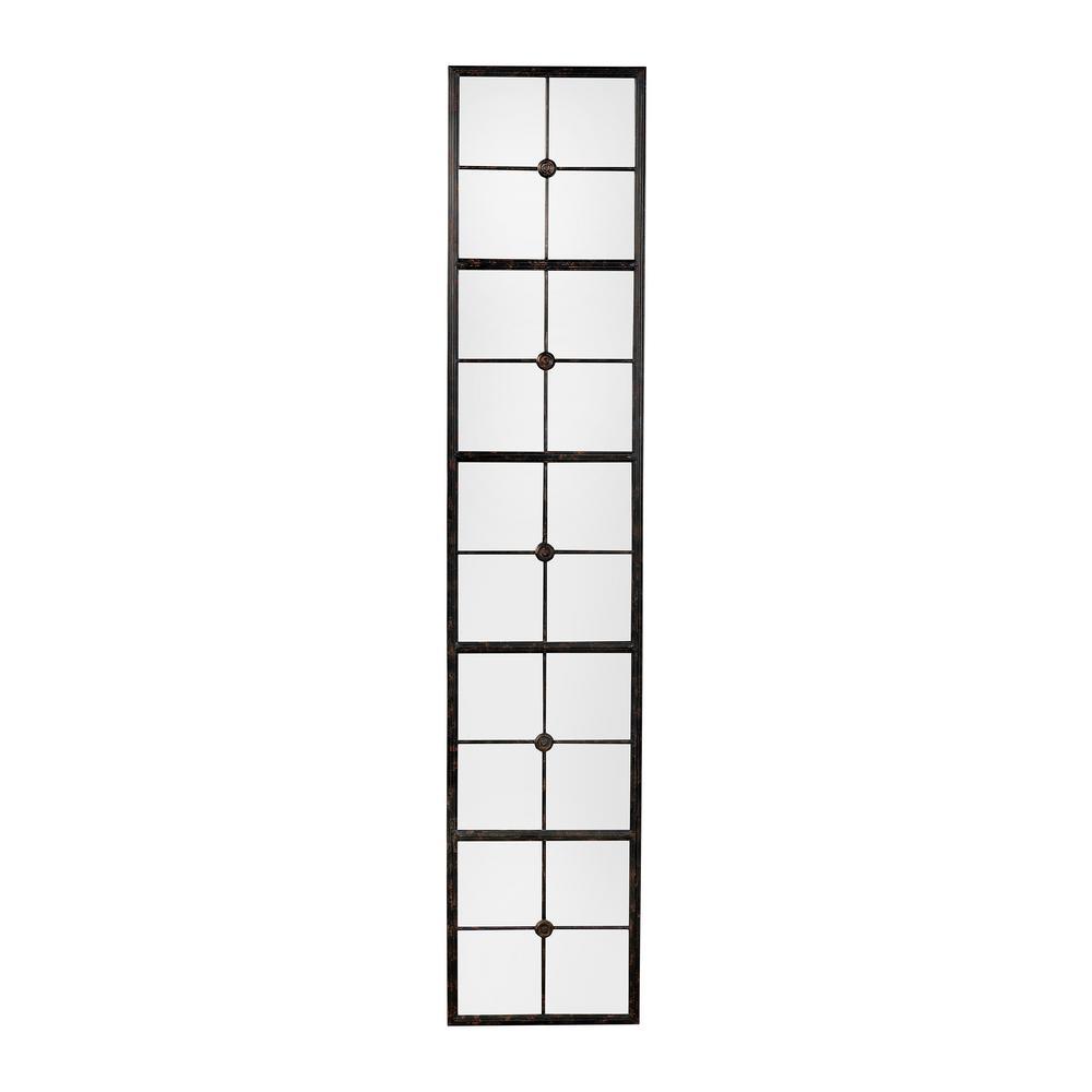 3R Studios Rectangle Black Framed Wall Mirror EC0132