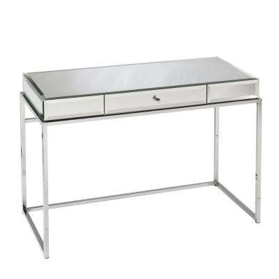 Midland Mirrored with chrome finish frame Desk