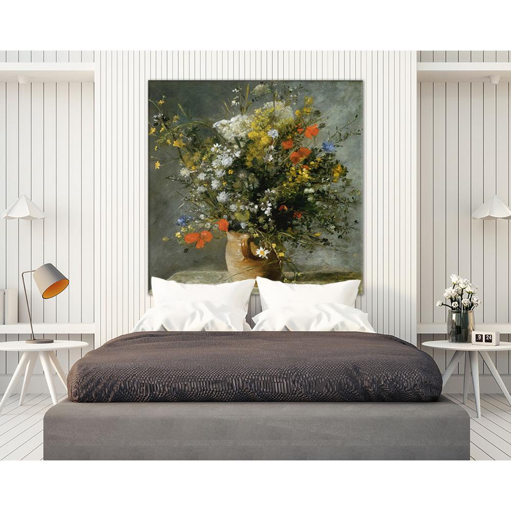 """54 in. x 54 in. """"Fleurs dans un vase"""" by Auguste"""