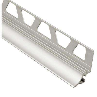 Dilex-AHKA Satin Nickel Anodized Aluminum 5/16 in. x 8 ft. 2-1/2 in. Metal Cove-Shaped Tile Edging Trim