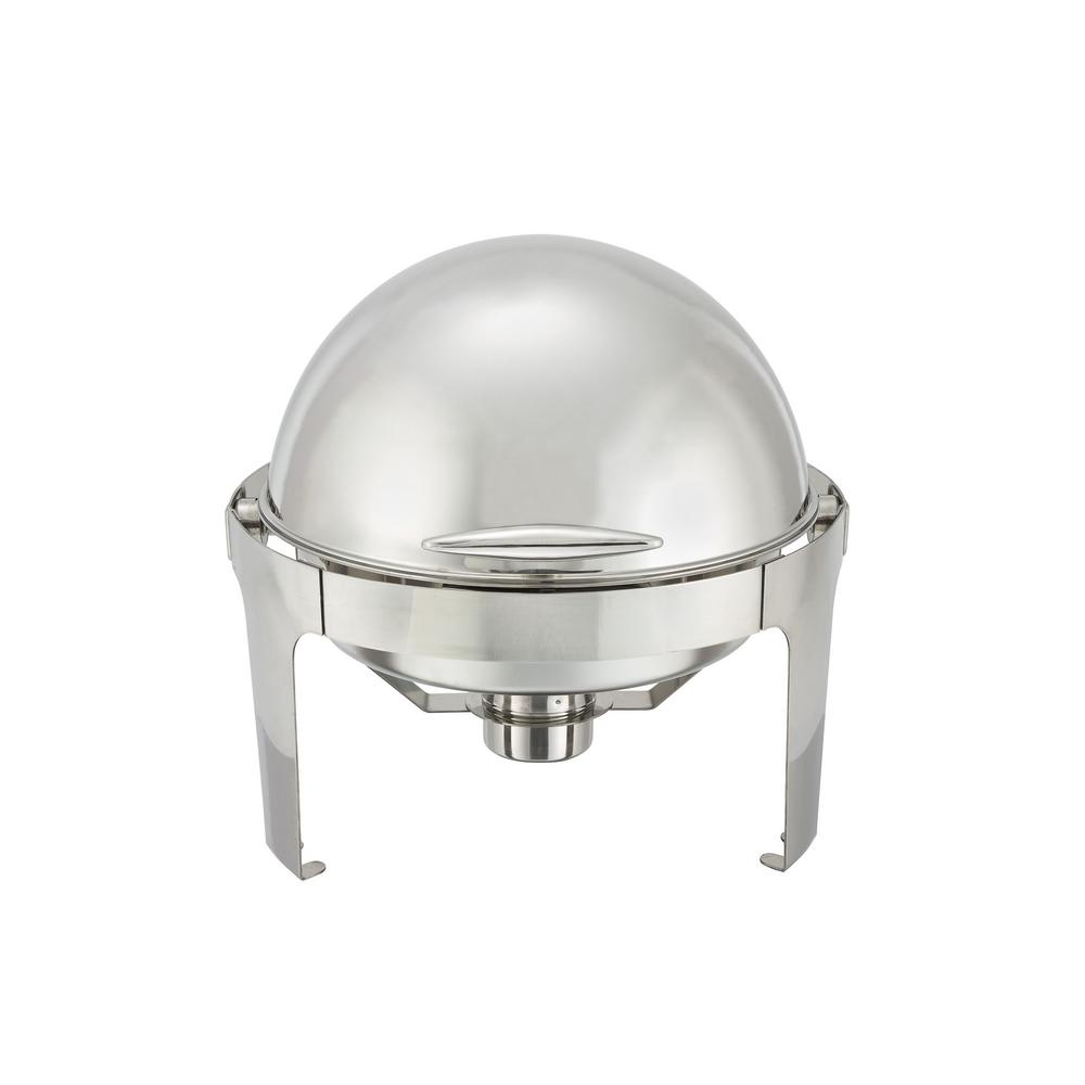 6 Qt. Round Roll Top Stainless Steel Handle Set