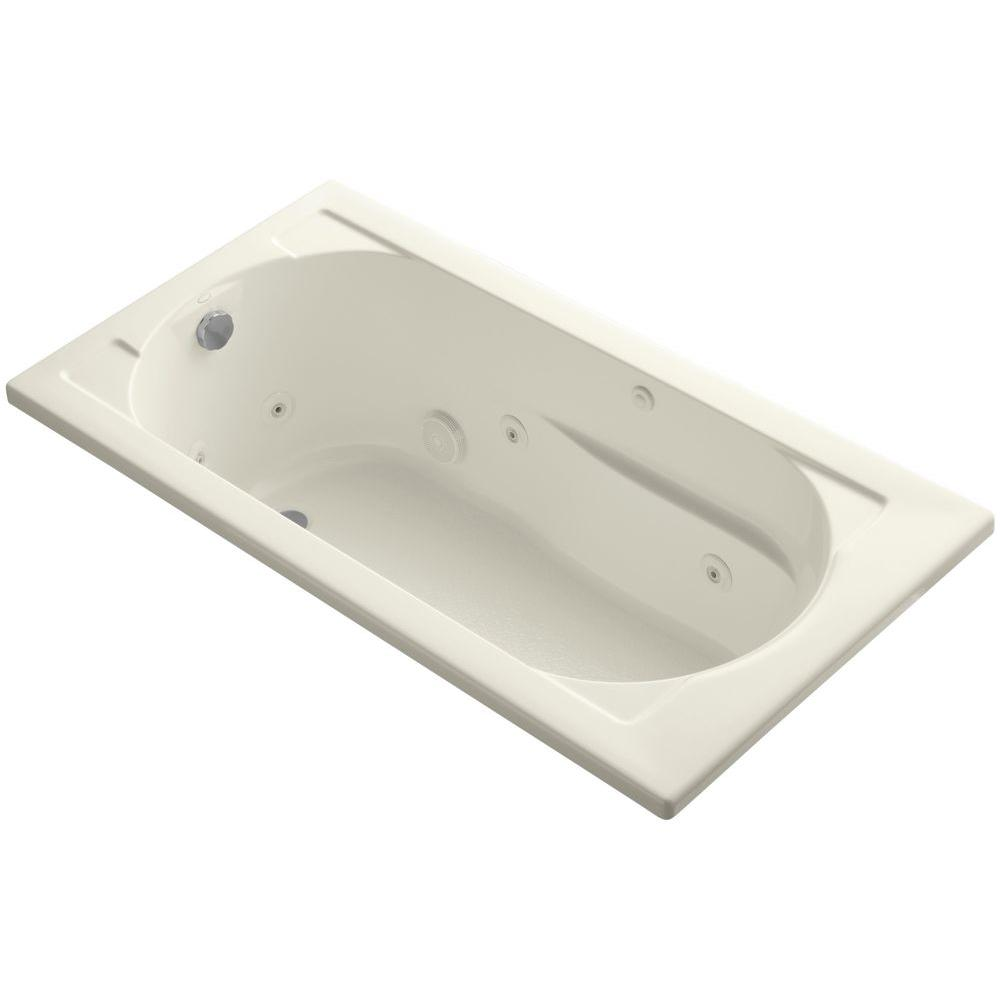 Devonshire 5 ft. Acrylic Reversible Drain Rectangular Drop-In Whirlpool Bathtub