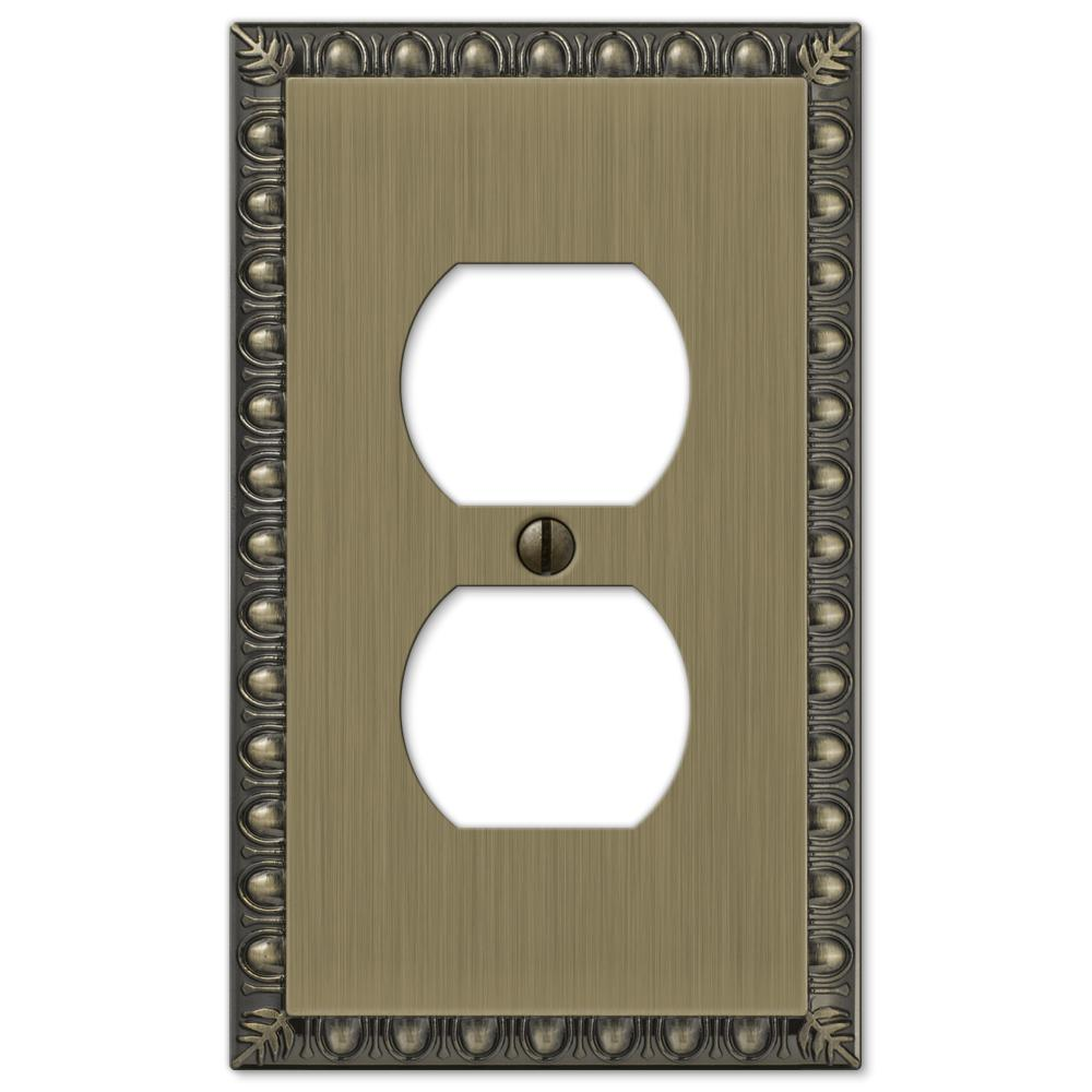 Renaissance 1 Duplex Wall Plate - Brushed Brass